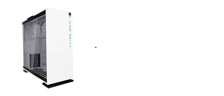 Middle Tower Tempered glass partition wall - White No-Power mATX