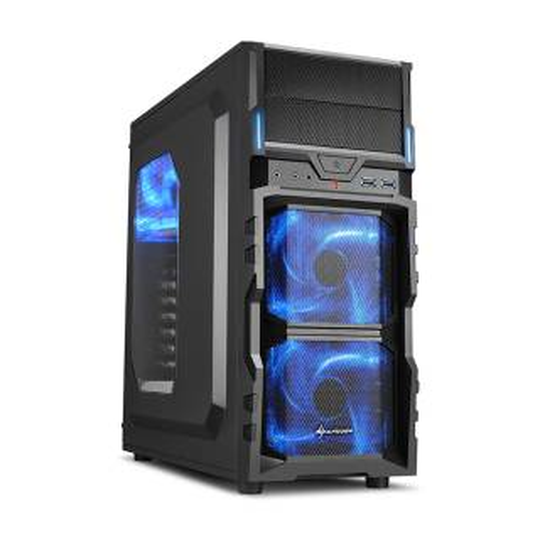 Miglior prezzo VG5-W Middle Tower No Power minITX/mATX/ATX LED Blu Nero/Blu -