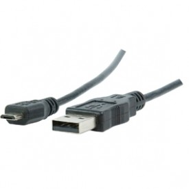 CABLE USB A MICRO USB 2.0 BLACK 1MT
