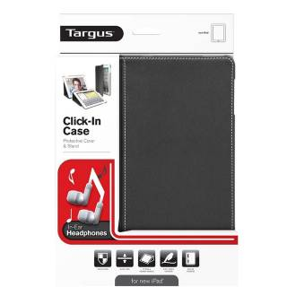 Targus Click-In Cover + In-Ear Headphones for New iPad