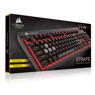 STRAFE Tastiera Meccanica Backlit Red LED Cherry MX Brown USB