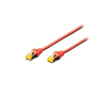 Patch Cable RJ45 Cat6A Double Shielding 0.5m Red