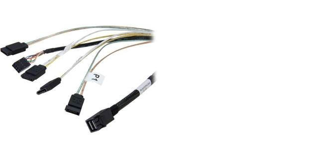 SFF8643 cable from mini SAS HD to 4X SATA data 0.6m