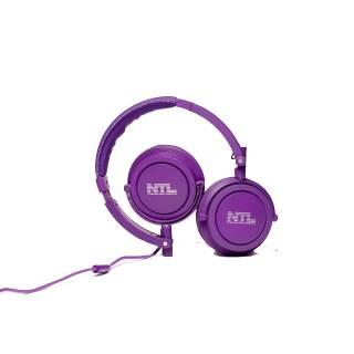 Miglior prezzo NTL MATT CUFFIE DJ PADIGLIONE RUOTABILE 40MM CON MICROFONO PURPL